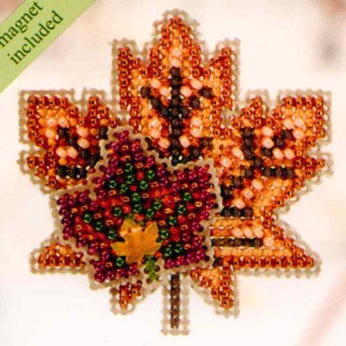 Maple Leaves Beaded Counted Cross Stitch Ornament Kit Mill Hill 2010 Autumn Harvest MH18-0204 Mill Hill http://www.amazon.com/dp/B003J8AVQS/ref=cm_sw_r_pi_dp_Ukhcwb17XX1X0