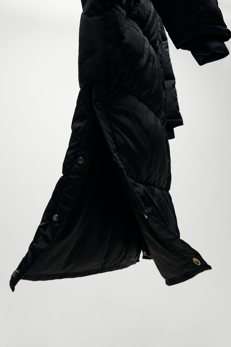 Extra Long Water Repellent Puffer Coat Zara United States Puffer Coat Long Puffer Coat Puffer [ 1125 x 750 Pixel ]