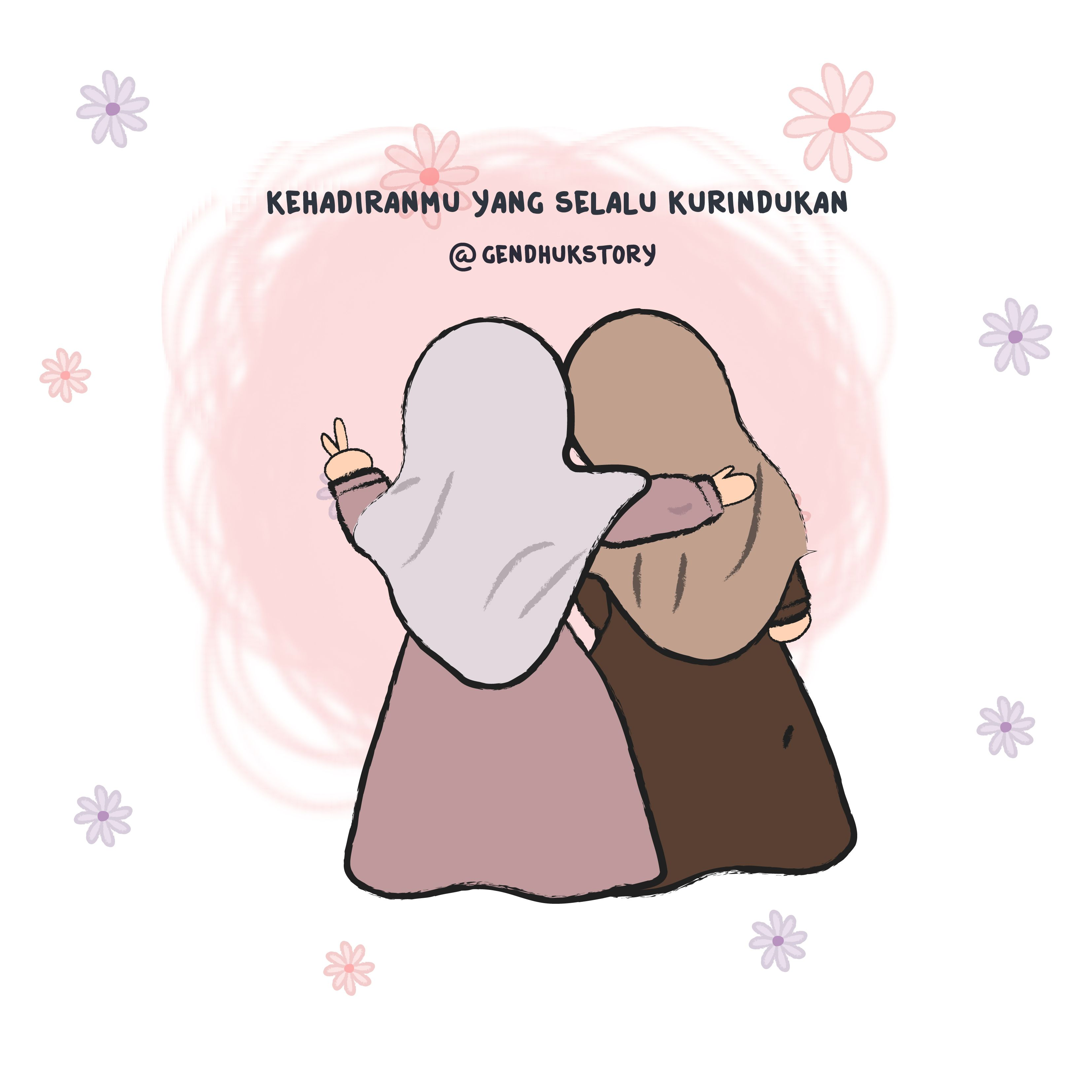 Pin Oleh Mimi Adila Di Cutetoon Hijabgirls Kartun Ilustrasi Gambar Lucu