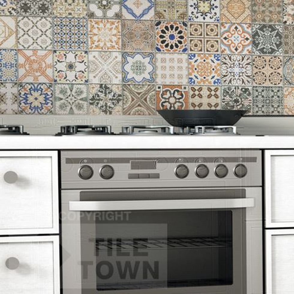 Porcelain Tiles For Kitchen Provenza Deco Kitchen Wall A Beautifully Decorated Porcelain Tile