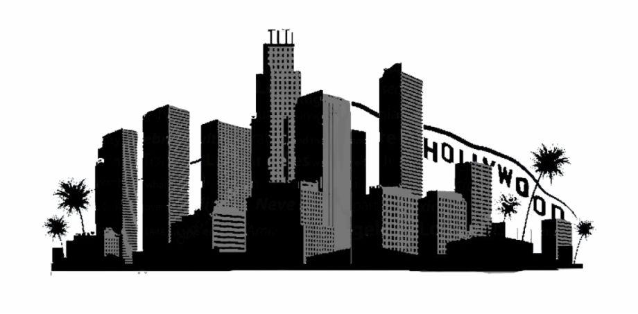 La California City Hollywood Silhouette Freetoedit La Skyline Vector Transparent Png Imag La Skyline Chicago Skyline Silhouette City Skyline Silhouette