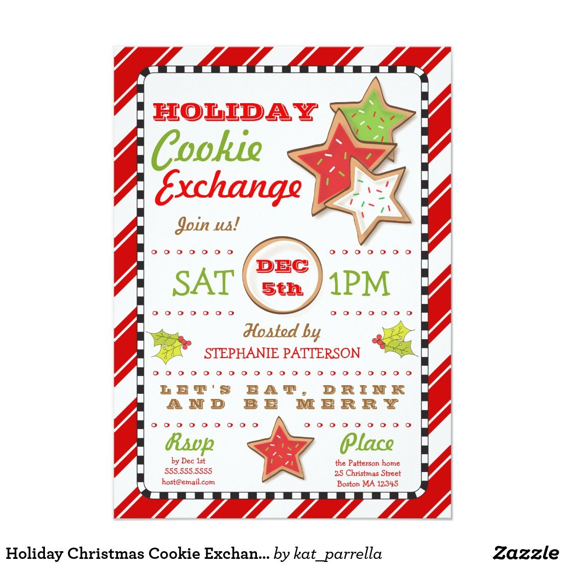 Holiday Christmas Cookie Exchange Invitation Ring in the Holiday ...