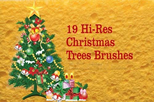 50 Free Christmas Trees And Decoration Brushes For Photoshop Free Christmas Christmas Tree Holiday Design