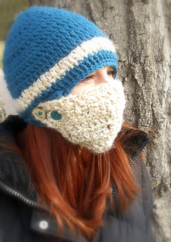 Crochet Button Face Mask Beanie Small Crochet Buttons