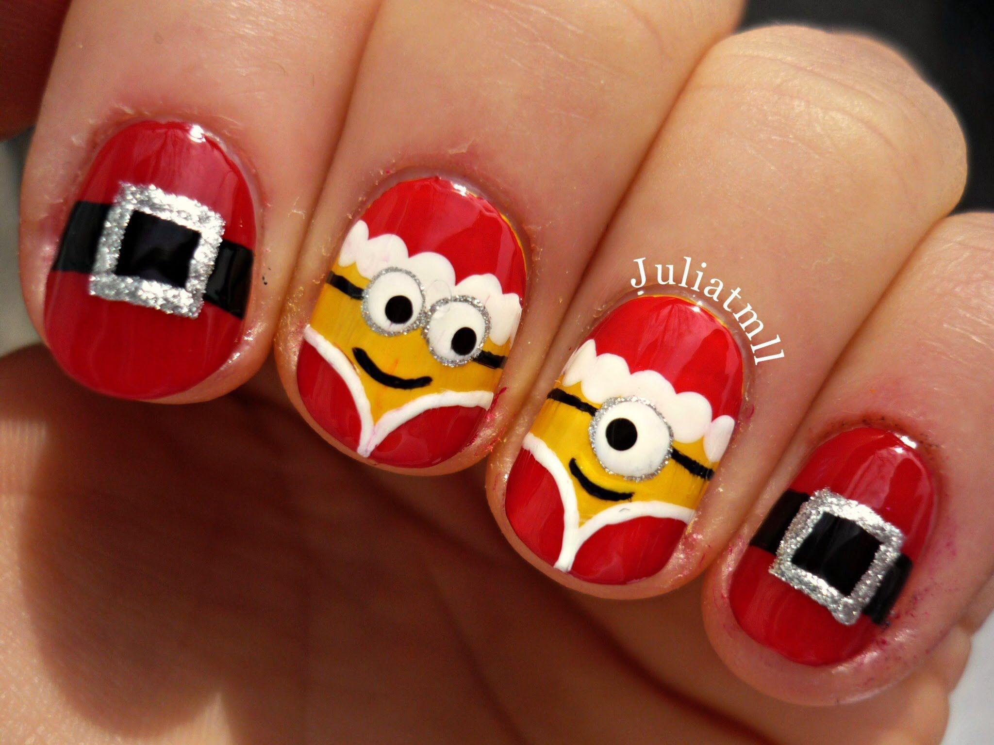 Christmas minion nails tutorial video christmas pinterest christmas minion nails tutorial video prinsesfo Choice Image