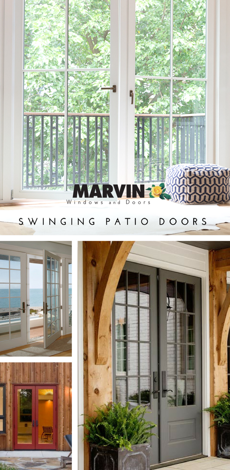 The Perfect Addition To Any Backyard Patio Or Deck Marvin Swinging Patio Doors These Doors Include A Wi Patio Doors French Doors Interior French Doors Patio
