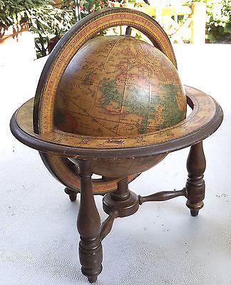 Mappe monde globe terrestre signe du zodiac ancien - Globe terrestre en carton ...