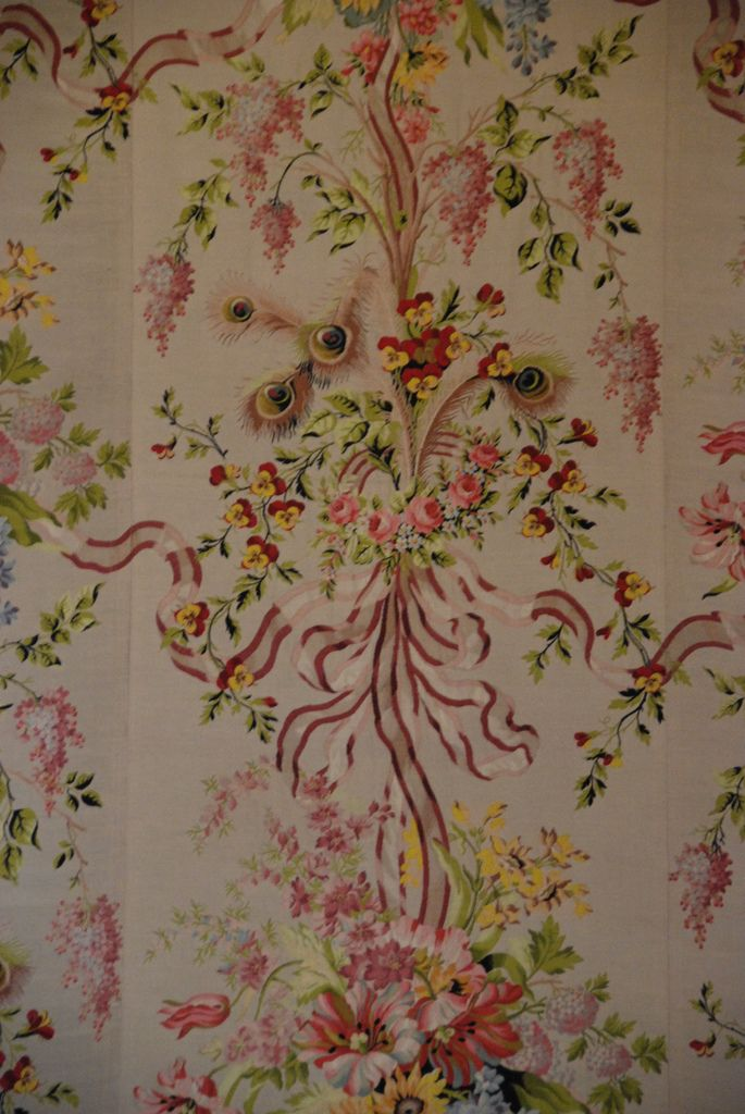 marie antoinettes wallpaper versailles france bedrooms