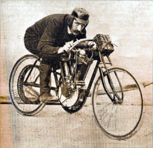 1905 Peugeot board track racer. 250cc, 16hp, 110lbs, 87.32mph.
