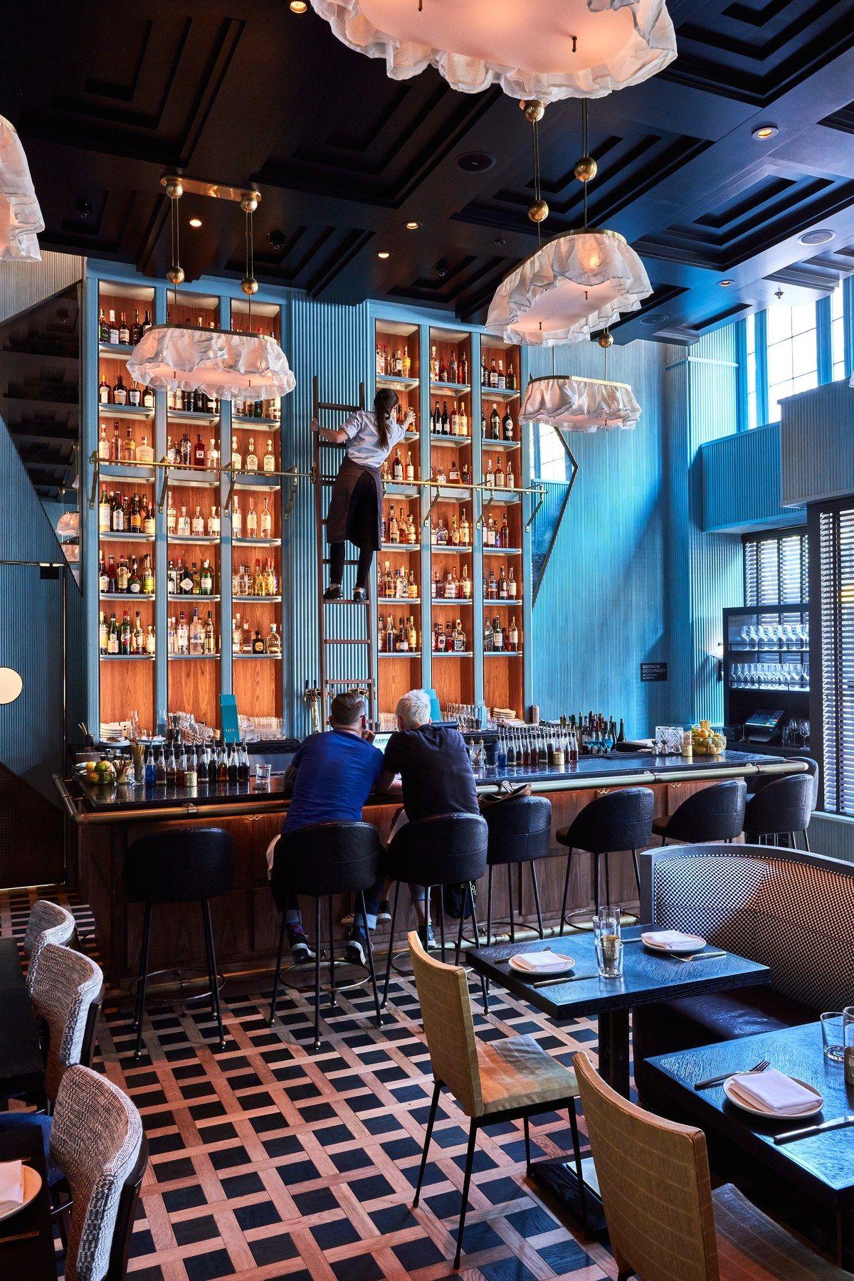 Proper Hospitality Hotel San Francisco Interior Lounge Bar Restaurant Hotel Bar Design Luxury Bar Bar Design Restaurant