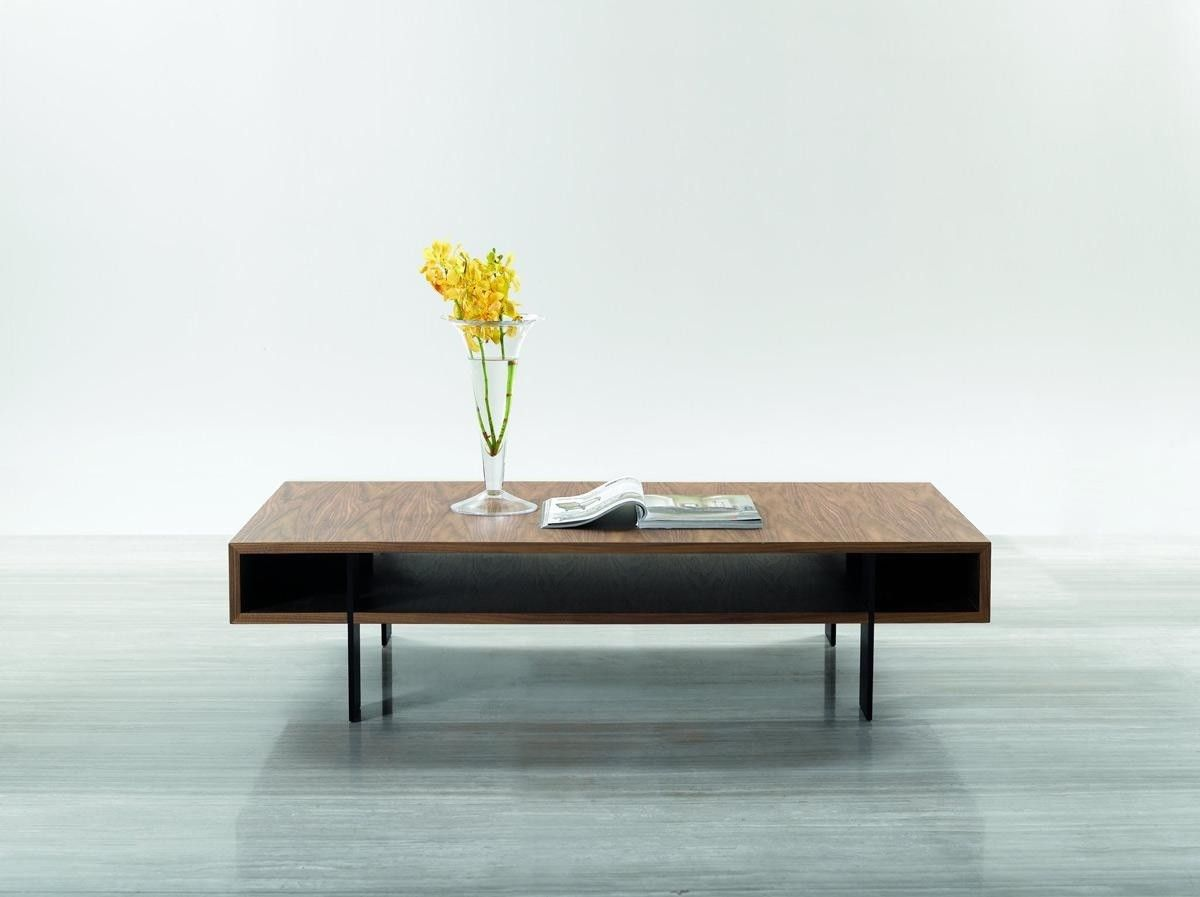 Coffee Table Modrest Modern Feng Shui In Matte Walnut Finish
