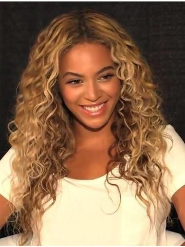 Beautiful Long Curly Blonde Without Bangs Beyonce Inspired Wigs