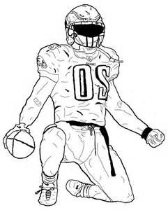 American Football Player Coloring Pages sketch template Sports