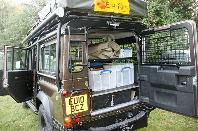 Storage Solution For The Overland Land Rover Defender