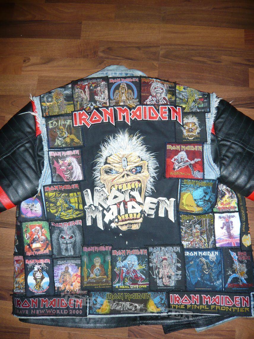 Iron Maiden Tribute Battle Jacket Battle Jacket Iron Maiden Punk Jackets [ 1141 x 856 Pixel ]