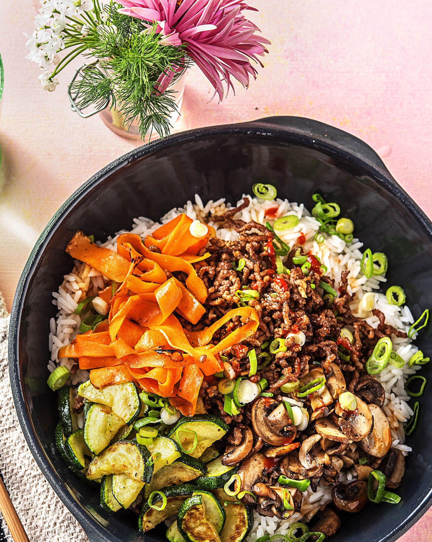 Beef Bibimbap Rice Bowls Recipe Hellofresh Recipe Hello Fresh Recipes Bibimbap Recipe Easy Rice Bowls Recipes