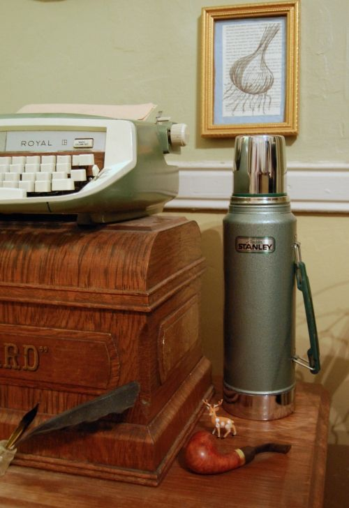 stanley thermos, mint typewriter.