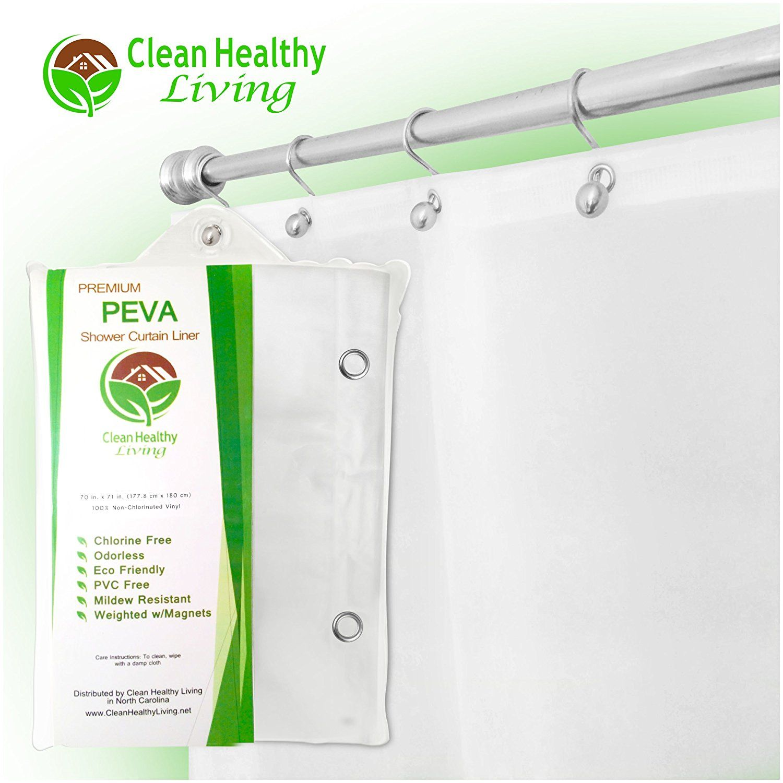 Amazon Com Heavy Duty Peva Shower Liner Curtain Odorless