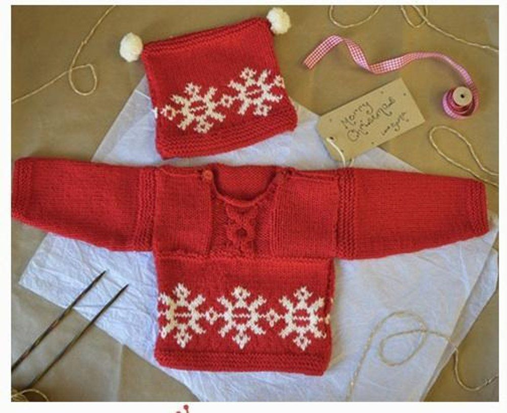 Love knitting christmas jumper and hat for babies toddlers love knitting christmas jumper and hat for babies toddlers bankloansurffo Image collections