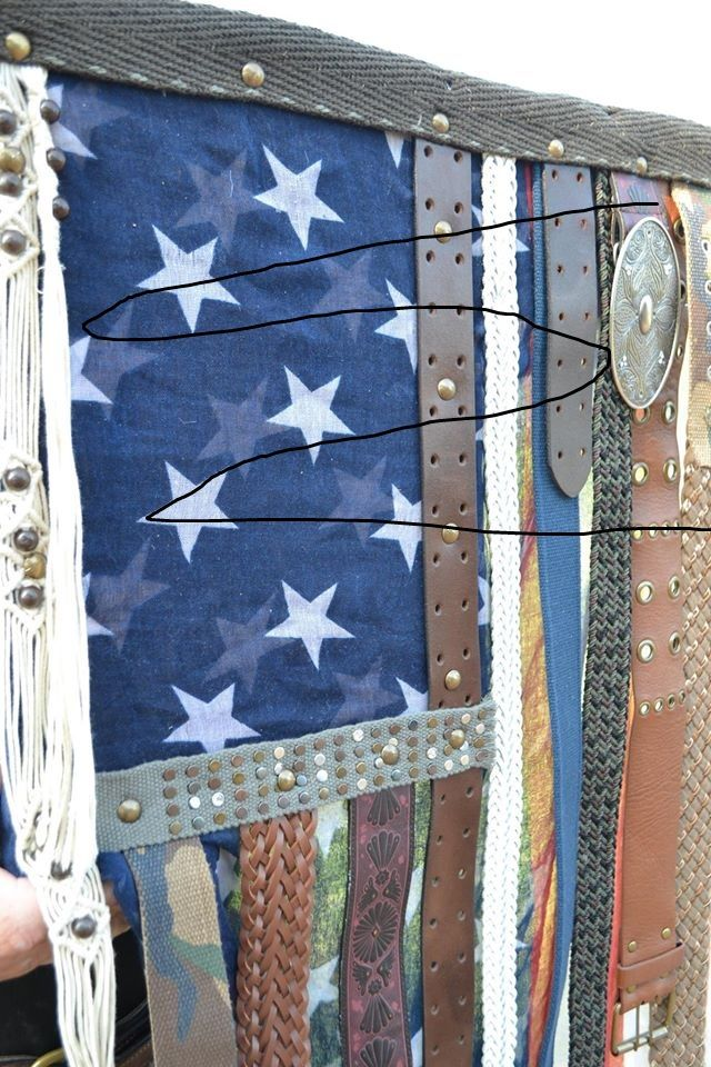 Texas Trash and Treasures cut up the flag and used it as fabric in a wall hanging.