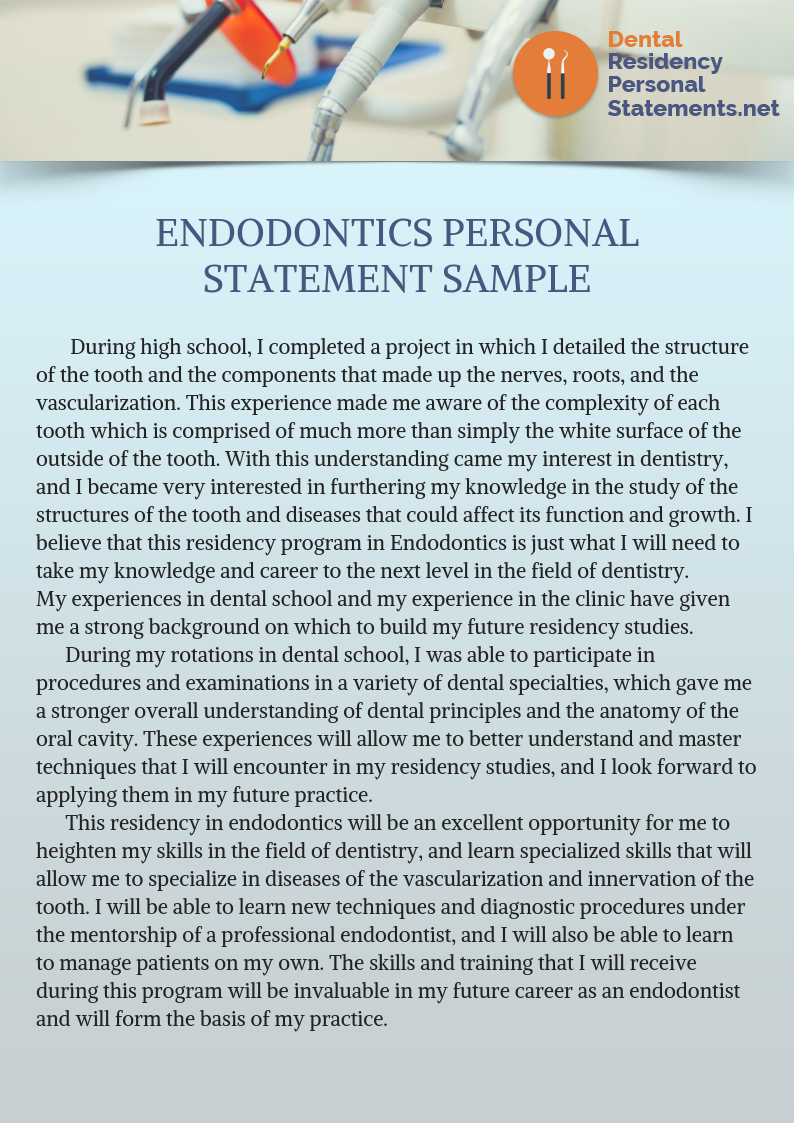 Stuck With Your Writing Thi Endodontic Personal Statement Sample And Much More On Site Can Help Check