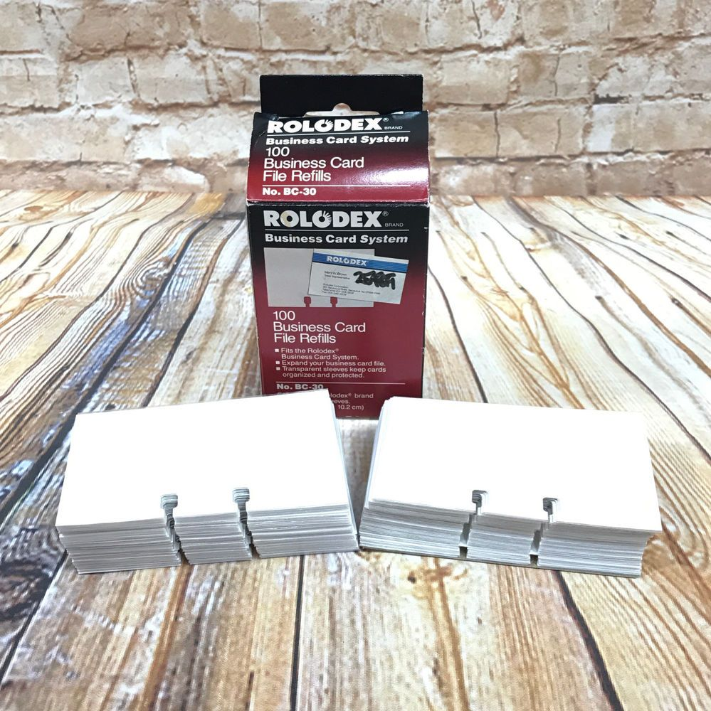 50 Rolodex File Card Protectors 3 X 5 inch Transparent TPB 35 ...