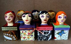Caixinhas (Marilia*) Tags: bonecas papermache caixas papelmache