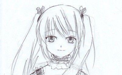 Linda Chica Anime Para Colorear Cdm Dibujos Anime Facil