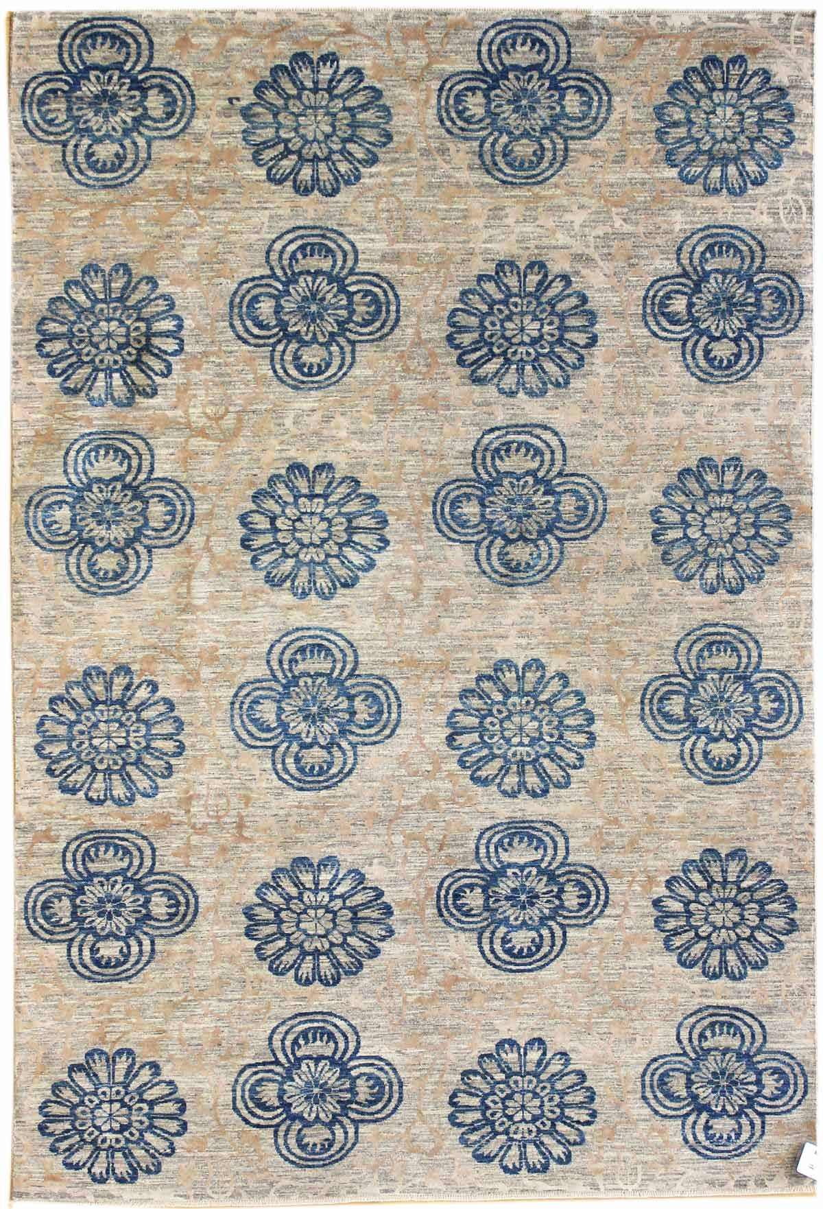 Transitional Rugs Gallery: Transitional Design Rug, Hand-woven in Pakistan; size: 6 feet 1 inch(es) x 8 feet 7 inch(es)