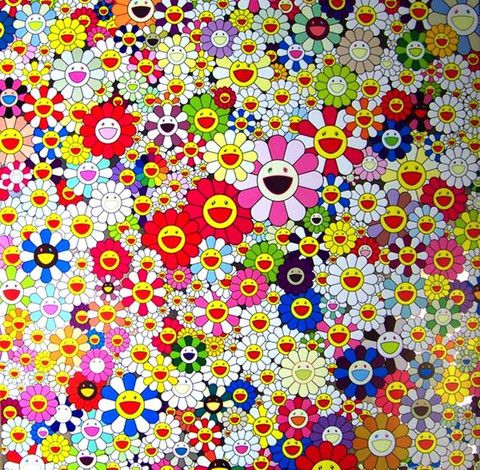 Takashi Murakami Limited Edition Poster Flowers in Heaven
