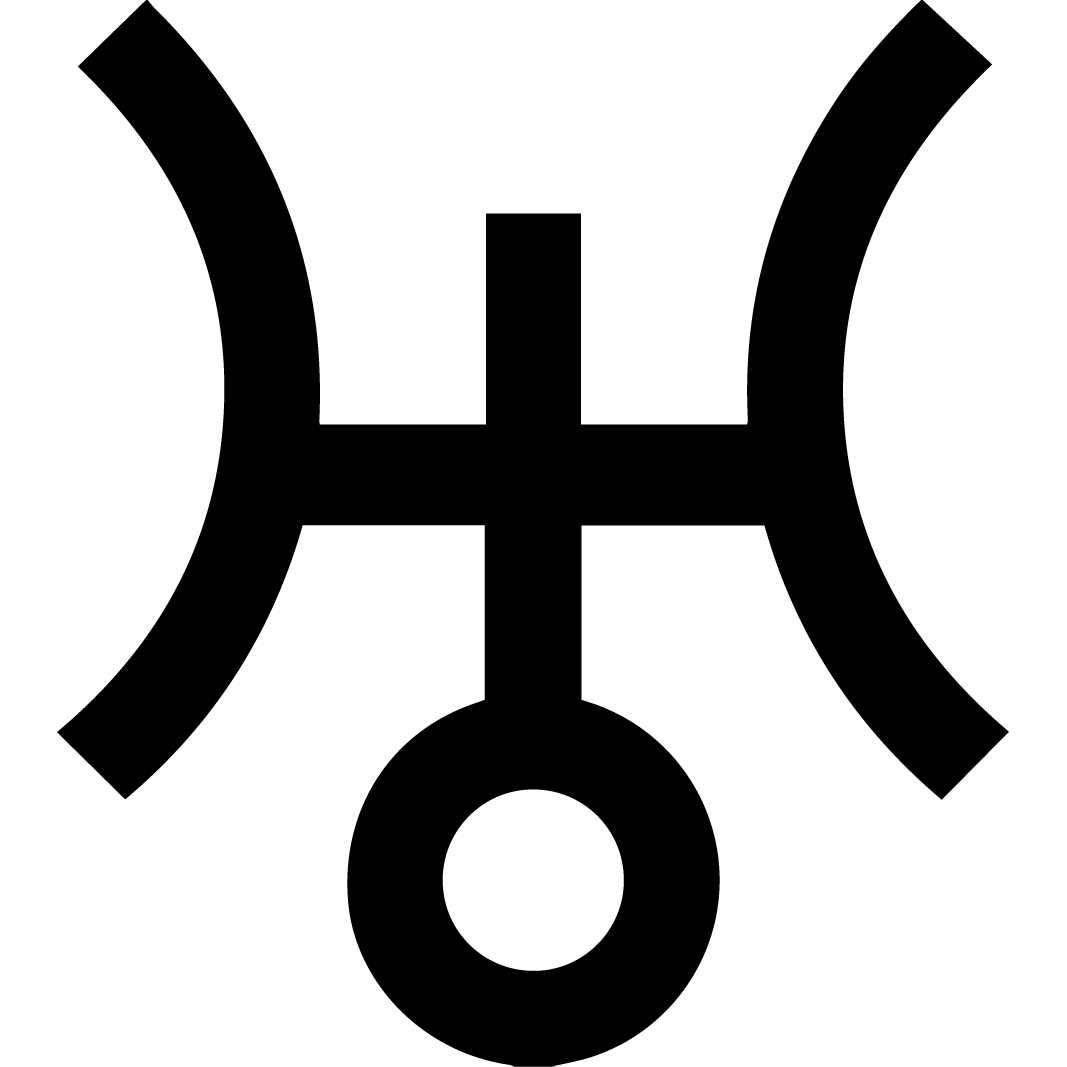 Uranus astronomical symbol h in symbol taken from discoverers last uranus astronomical symbol h in symbol taken from discoverers last name herschel the circle of spirit and a dominant cross of matter biocorpaavc Gallery