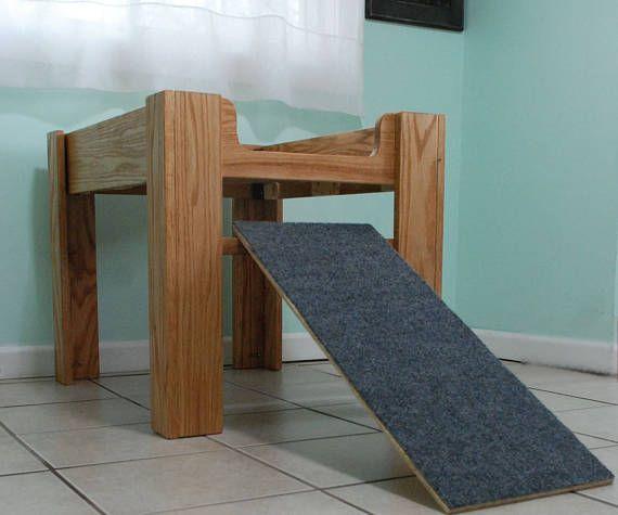 Eichen Holz Erhöht Hundebett Erhöhten Hund Bett Möbel Mit