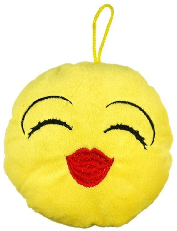Emojis Free Bubbles Emoji Soft Plush Pillow Eye Closed Eyebrows