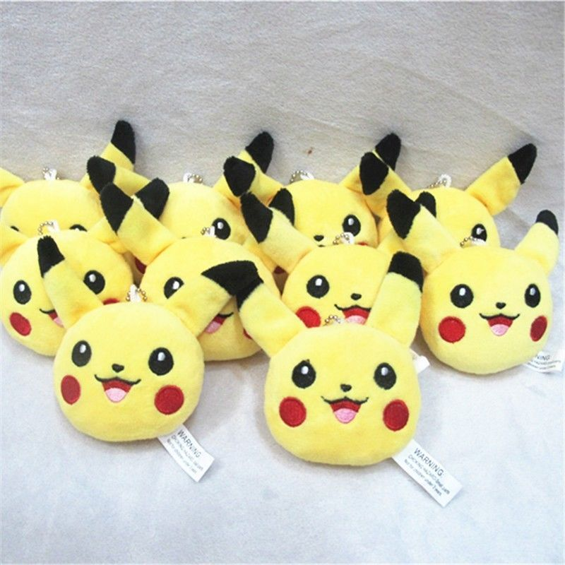 New Pokemon Center Pikachu Plush Stuffed Toys Animal Doll Bag Pendants Keychain #Unbranded
