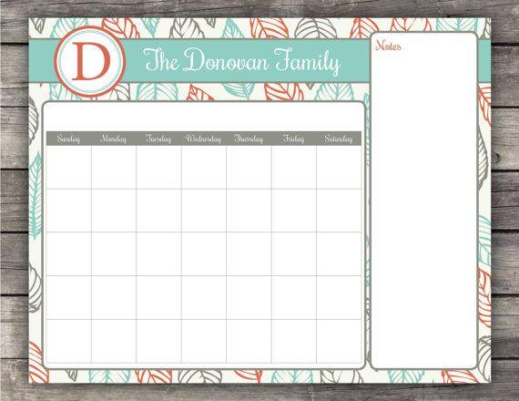 Printable Calendar  X Printable Calendars