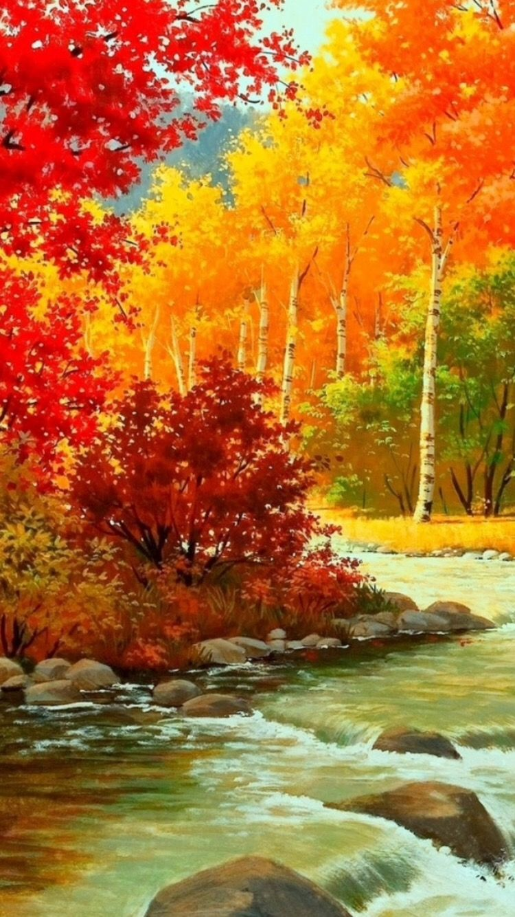 When It Is Time To Change The Way Things Tend To Be You Have To Go And Do What You Have To Do Especially W Autumn Scenery Autumn Landscape Landscape Paintings