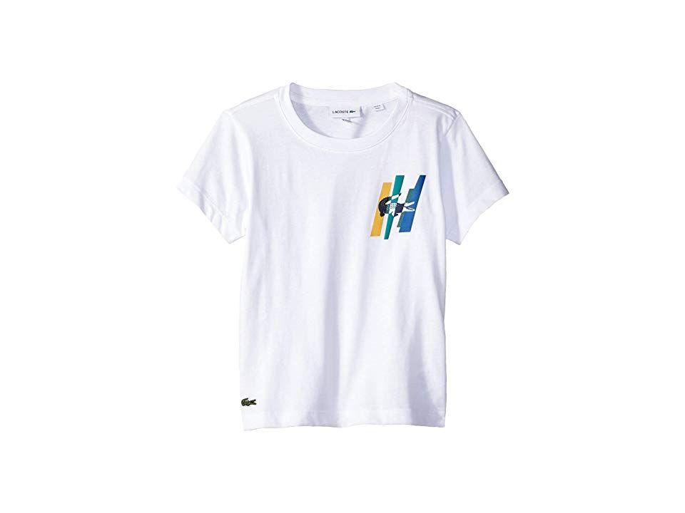 038f3401 Lacoste Kids Short Sleeve Multicolor Animation Tee Shirt (Toddler/Little  Kids/Big Kids