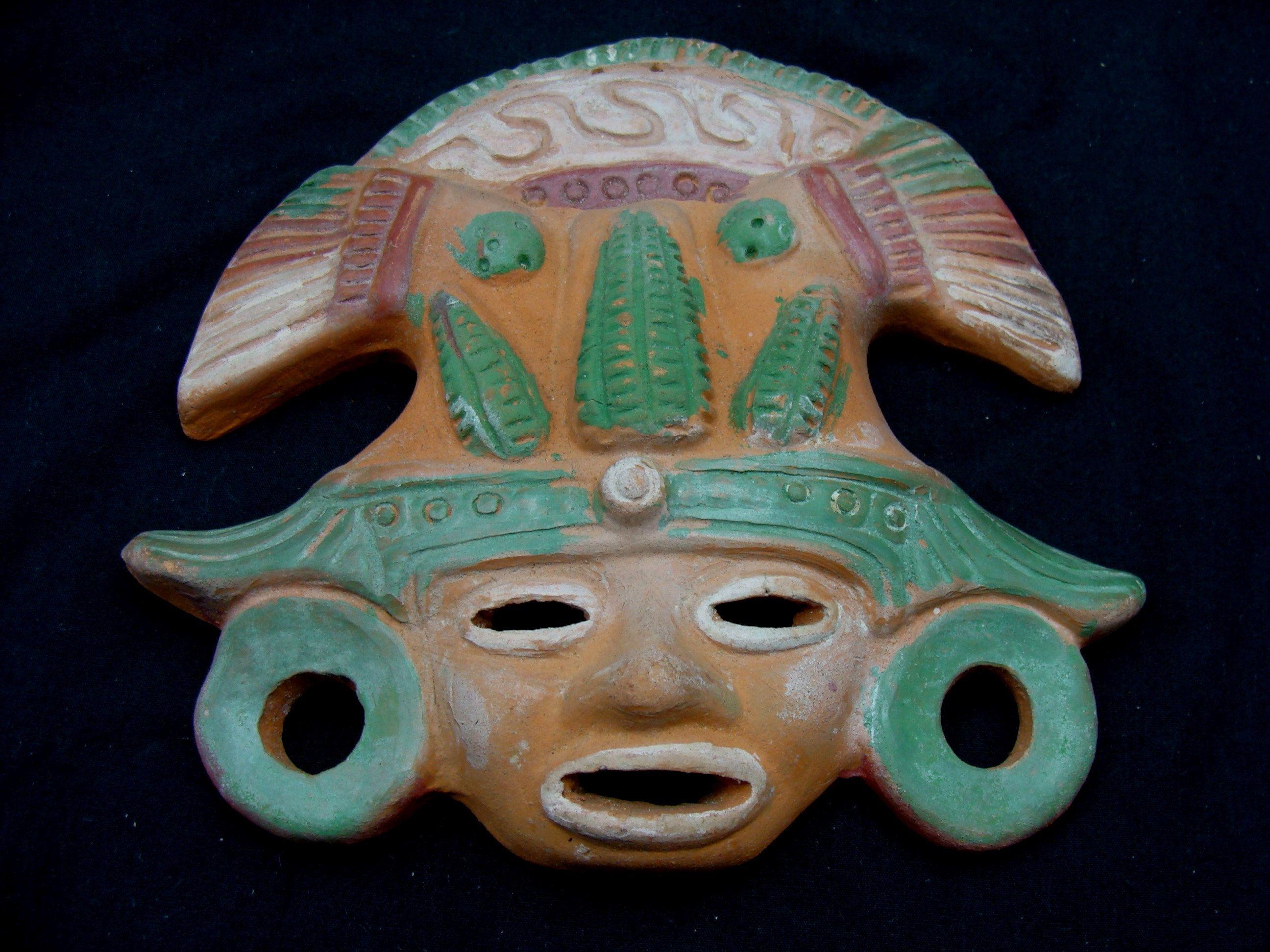 Vintage Ceramic Wall Pocket Pot Southwest Aztec Design