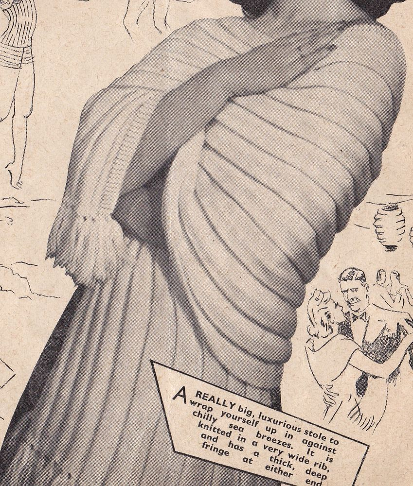 Vintage Knitting Pattern Instructions Ladies Sun Top/Boob Tube and ...