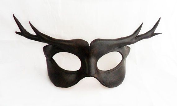Deer Man Leather Mask by LibertiniArts on Etsy, $65.00