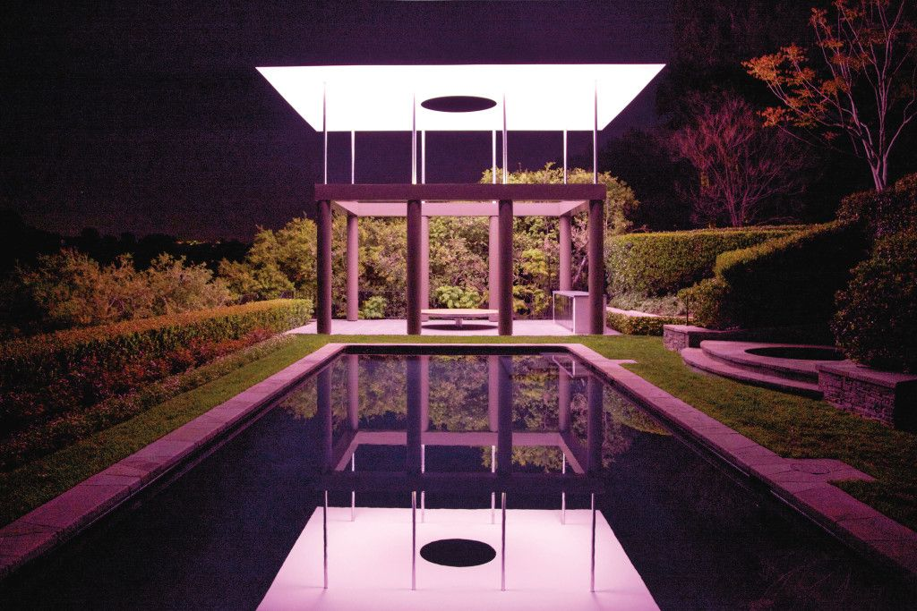 James Turrell's skyspace installation reflected in a pool in Santa Monica. PHOTO: Jackie Nickerson.