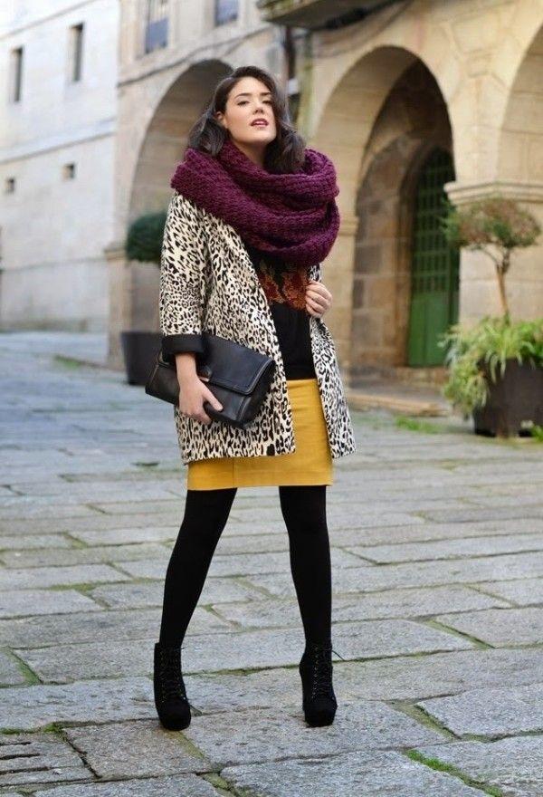 570ec3ef6090a Fall Winter 2013 -2014 Fashion Trends Loving the mustard leopard burgundy  mix