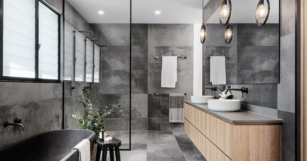 Photo of CONTEMPORIST: A Cloudy Grey Tile Sets The Palette For This Bathroom – Contemporary Designers Furniture – Da Vinci Lifestyle