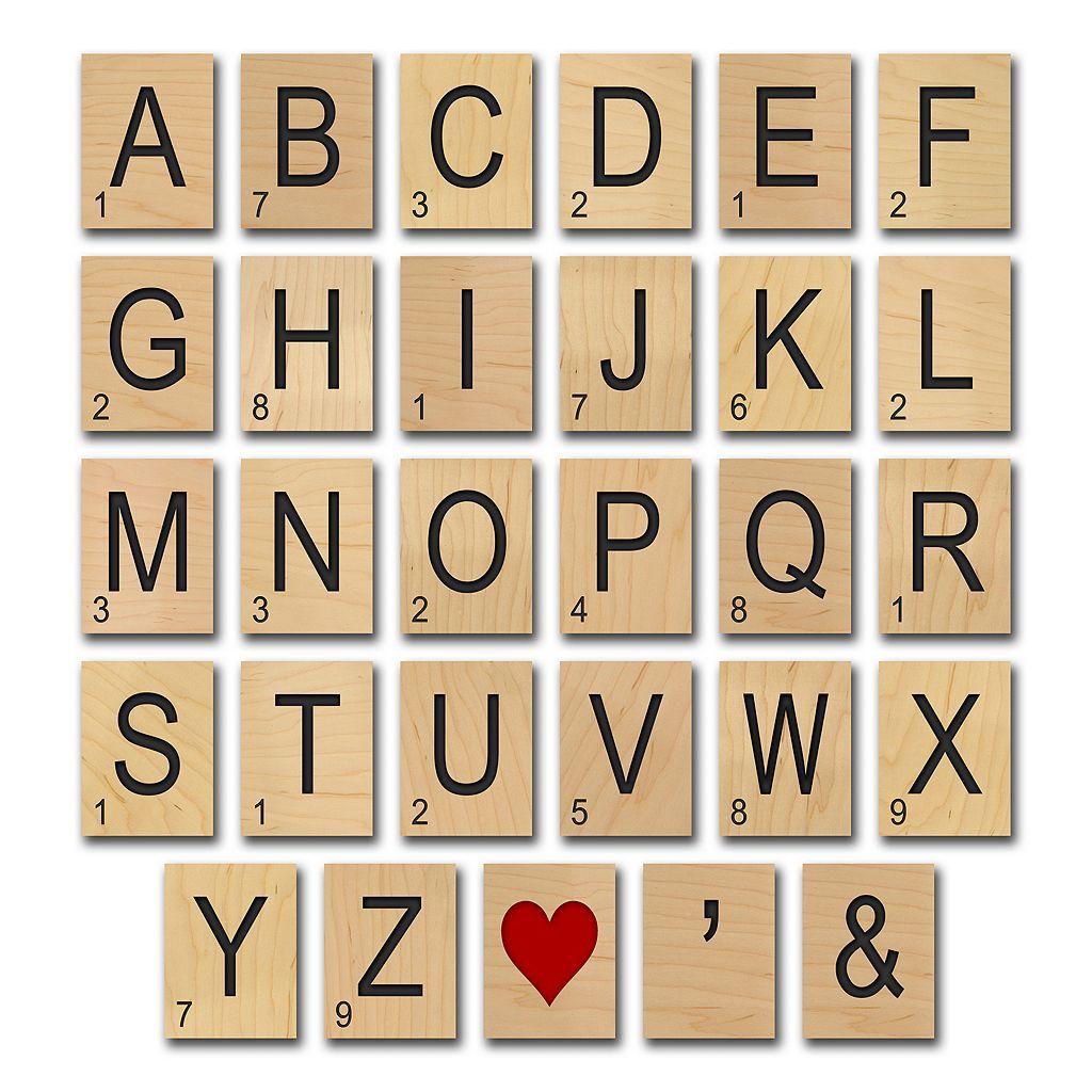 Game Tile\'\' Alphabet Wall Art | New Home - Wall Decor Ideas ...