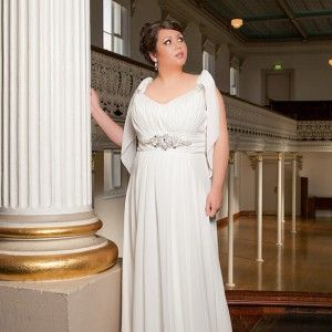 Nb 13208 Nicolina Chiffon Gown In Ivory With Jeweled Embellisment Bridal Gowns Plus Sizes Pinterest Wedding Dress And