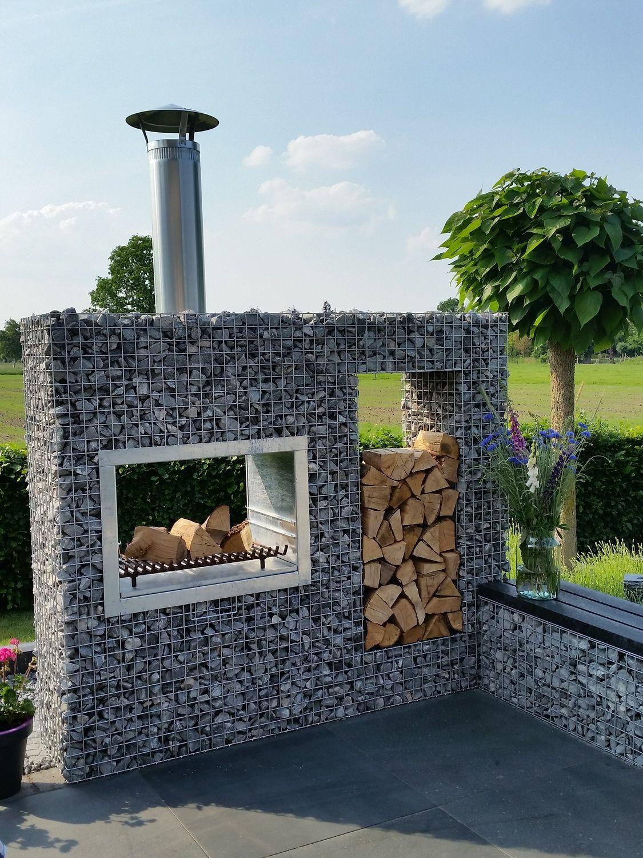 Photo of Garden fireplace Gabions Grill XL