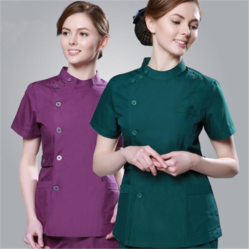 Scrub Sets Loyal 2017 Summer Women Hospital Medical Scrub Clothes Set Dental Clinic And Beauty Salon Nurse Uniform Fashionable Design Slim Fit