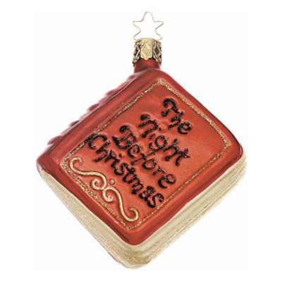 The Night Before Christmas Book Christmas Ornament Inge-Glas of Germany  127206