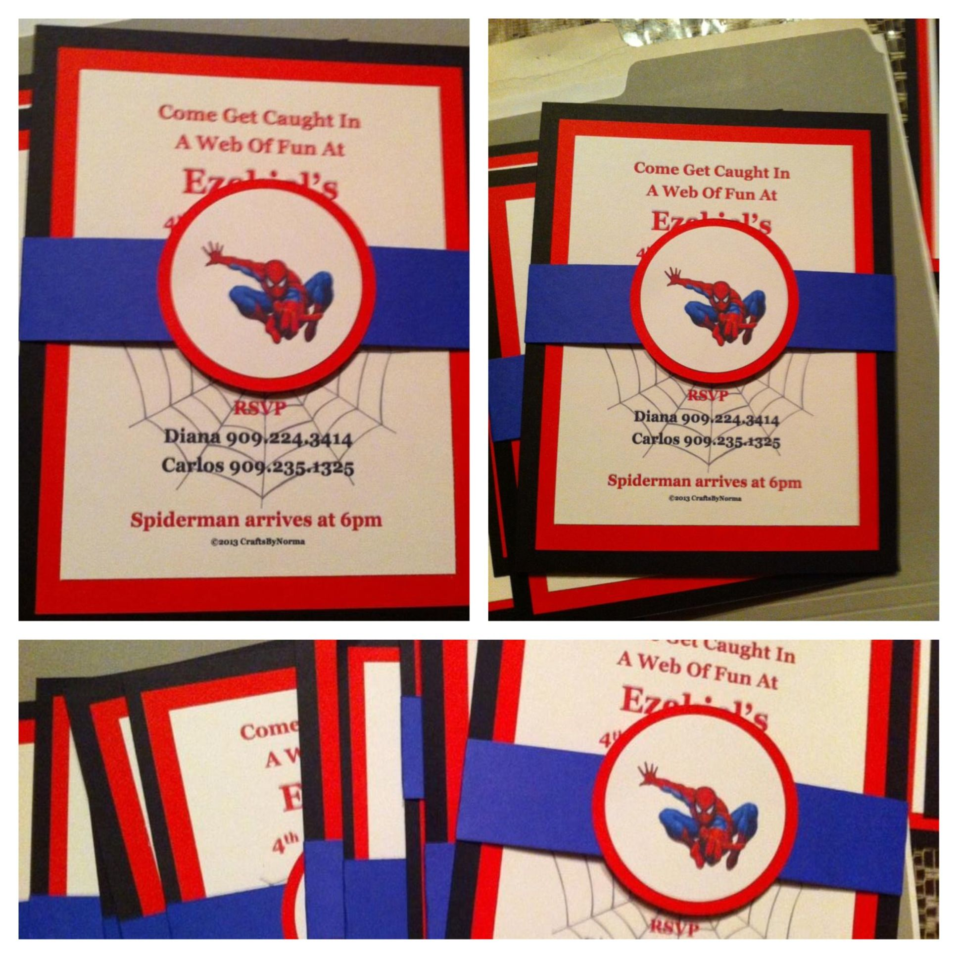 Spiderman birthday invitations things i made pinterest spiderman birthday invitations solutioingenieria Images