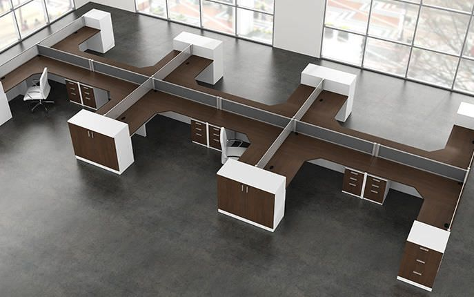 Modern workstation desk bath home decor